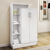 Armário Multiuso Sapateira Prateleira Closet Elite 2 Portas e 6 Prateleiras com Chave Branco - Demóbile