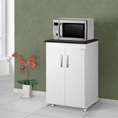 Balcão Armário para Cozinha Vitória Branco 2 Portas com Tampo Onix - AJL Móveis