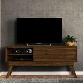 Bancada Frizz 1.5 para TV de até 65 Polegadas Portas Deslizantes e Pés Palito Savana Fosco Sala de Estar - Madetec
