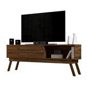 Bancada Frizz 1.8 para TV de até 65 Polegadas Portas Deslizantes e Pés Palito Savana Fosco Sala de Estar - Madetec