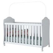 Berço Arco íris com Rodízio para Quarto de Bebê Dormitório Infantil Branco - Henn