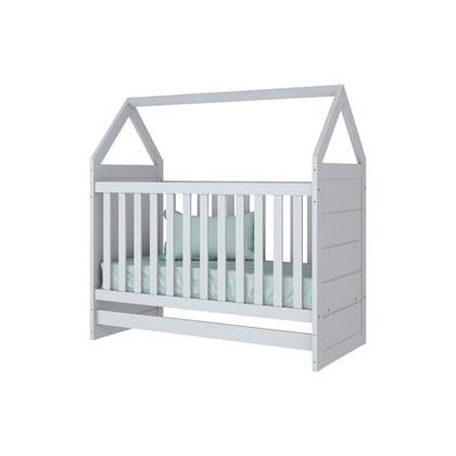 Berço Casa Casinha Cabana Montessoriano 2 em 1 Mini Cama para Quarto de Bebê Infantil Branco - Henn