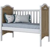Berço Mini Cama 3 em 1 Provençal para Quarto de Bebê Infantil Dormitório Rústico e Branco - Henn