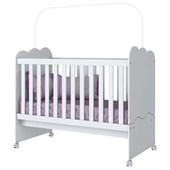 Berço Mini Cama Nuvem de Algodão 2 em 1 para Quarto de Bebê Infantil Dormitório Branco - Henn
