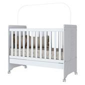 Berço Mini Cama Pão de Mel 3 em 1 para Dormitório Quarto de Bebê Infantil Branco - Henn