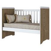 Berço Mini Cama Pão de Mel 3 em 1 para Dormitório Quarto de Bebê Infantil Rústico e Branco - Henn