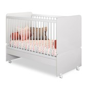 Berço Multifuncional Sirius 2 em 1 Mini Cama para Quarto Infantil Branco - Peternella Baby