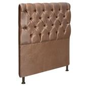 Cabeceira Estofada Cristal Cama Box Solteiro 90 Cm Com Capitonê Quarto Suede Bronze - JS Móveis