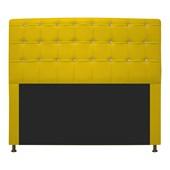 Cabeceira Estofada Dama com Strass 195 cm para Cama Box King Corano Amarelo para Quarto - AM Decor