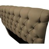 Cabeceira Estofada Paris Cama Box King Size 195 Cm Com Capitonê Quarto Suede Sisal - JS Móveis