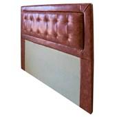 Cabeceira Estofada Tamires 160cm Casal Corano Terracota Cama Box Quarto - Amarena