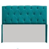 Cabeceira Lara 190 cm King Size Suede Azul Turquesa - Amarena Móveis
