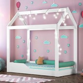 Cama Casinha Montessoriana Infantil Cristal e Branco - Peternella Baby