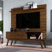 Combo Bancada Frizz 1.8 para TV de até 65 Polegadas Portas Deslizantes e Pés Palito mais Painel Suspenso Lorenzo 1.8 Savana Fosco Sala de Estar - Madetec