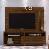Combo Composição Frizz Bancada mais Painel para TV de até 65 Polegadas com Rodízios e Luminária LED Savana Fosco - Madetec