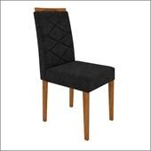Conjunto de 02 Cadeiras Caroline para Sala e Cozinha Ype / Preto VL 07 - New Ceval