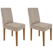 Conjunto de 02 Cadeiras Heloíse para Sala e Cozinha Ypê e Castor WD 25 - New Ceval