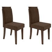 Conjunto de 02 Cadeiras Paloma para Sala e Cozinha Álamo e Café C02 - New Ceval