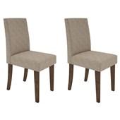 Conjunto de 02 Cadeiras Vanessa para Sala e Cozinha Álamo / Bege TL 13 - New Ceval