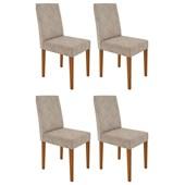 Conjunto de 04 Cadeiras Heloíse para Sala e Cozinha Ypê e Castor WD 25 -  New Ceval