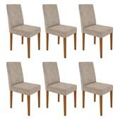 Conjunto de 06 Cadeiras Heloíse para Sala e Cozinha Ypê e Castor WD 25 - New Ceval