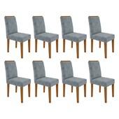 Conjunto de 08 Cadeiras Amanda para Sala e Cozinha Ype / Grafite WD 26 - New Ceval