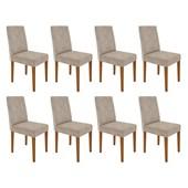 Conjunto de 08 Cadeiras Heloíse para Sala e Cozinha Ypê e Castor WD 25 - New Ceval