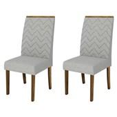 Conjunto de Mesa Itália para Sala de Jantar com Tampo de Vidro 04 Cadeiras Áurea Branco Laca /  Demolição / Linho Claro - DJ Móveis