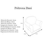 Conjunto Recamier Divã Sofá Juliana 140 cm + Poltrona Cadeira Dani + Puff Puf Pufe Retrô Luis Xv Corano Azul Marinho – DS Decor