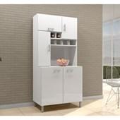 Cozinha Compacta Armário Jade para Cozinha 5 Portas Branco - AJL Móveis