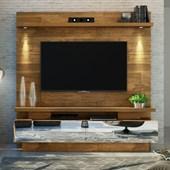 Home Theater Estante Citta para TV de até 70 Polegadas com Espelhos para Sala de Estar Demolição - DJ Móveis
