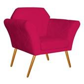 Kit 02 Poltrona Cadeira Decorativa Marcela Suede Pink Pés Palito para Recepção Sala de Estar Quarto Luxo - AM Decor