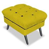 Kit 02 Puff Banco Decorativo Olivia Suede Amarelo - Am Decor