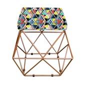 Kit 02 Puffs Estampado Mosaico Color Aramado Elsa - AM Decor