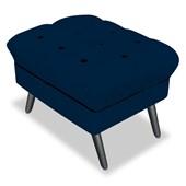 Kit 02Puff Banco Decorativo Olivia Suede Azul Marinho - Am Decor
