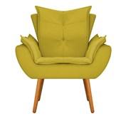Kit 2 Poltrona Cadeira Decorativa Apolo Pés Palito para Recepção Sala de Estar Consultório Escritório Quarto Suede Amarelo  - Amarena