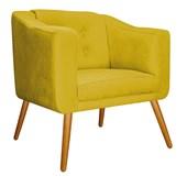 Kit Namoradeira com 2 Poltrona Larissa Decorativa Capitonê Pés Palito Suede Amarelo para Sala Recepção Quarto - AM Decor