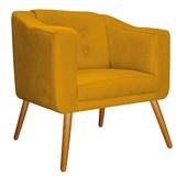 Kit Namoradeira com 2 Poltrona Larissa Decorativa Capitonê Pés Palito Suede Amarelo Queimado para Sala Recepção Quarto - AM Decor