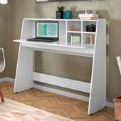 Mesa Bancada de Estudo Ideia Branco Neve Home Office para Quarto Sala - Amarena
