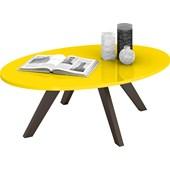 Mesa de Centro Alba Retrô Amarelo com Café Sala de Estar Recepção Luxo - DJ Móveis