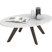 Mesa de Centro Alba Retrô Branco com Café Sala de Estar Recepção Luxo - DJ Móveis