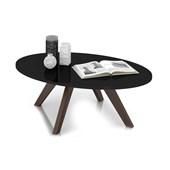 Mesa de Centro Alba Retrô Preto com Café Sala de Estar Recepção Luxo - DJ Móveis