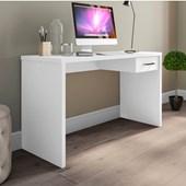 Mesa De Escritório Parati 40721 Office Branco com Gaveta Estudos Escrivaninha para Consultório Sala Quarto Consultório - AM Decor