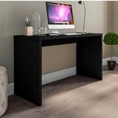 Mesa De Escritório Parati 40721 Office Preto Fosco Estudos Escrivaninha para Consultório Sala Quarto Consultório - AM Decor