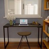 Mesa Para Computador Escrivaninha 90cm Estilo Industrial Adele - Amarena Moveis