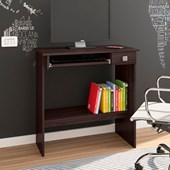 Mesa Para Computador Escrivaninha de Estudos 3 Prateleiras Castanho - AJL Móveis