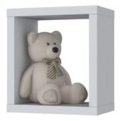 Nicho Aquarela Decorativo Quadrado Aquarela para Quarto Dormitório Infantil de Bebê  Branco - Henn