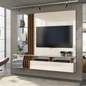 Painel Home Bello Suspenso para TV 55 Polegadas Off White e Demolição - DJ Móveis