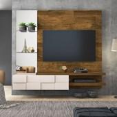 Painel Home Suspenso Turim para Tv 55 Polegadas Demolição e Off White - DJ Móveis