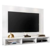 Painel Suspenso 50611 Channel Branco para TV de até 55 Polegadas com Nichos Sala de Estar Recepção - AM Decor